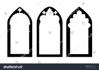 Church Stained Glass Gothic Windows Vector Stock Vector ...
