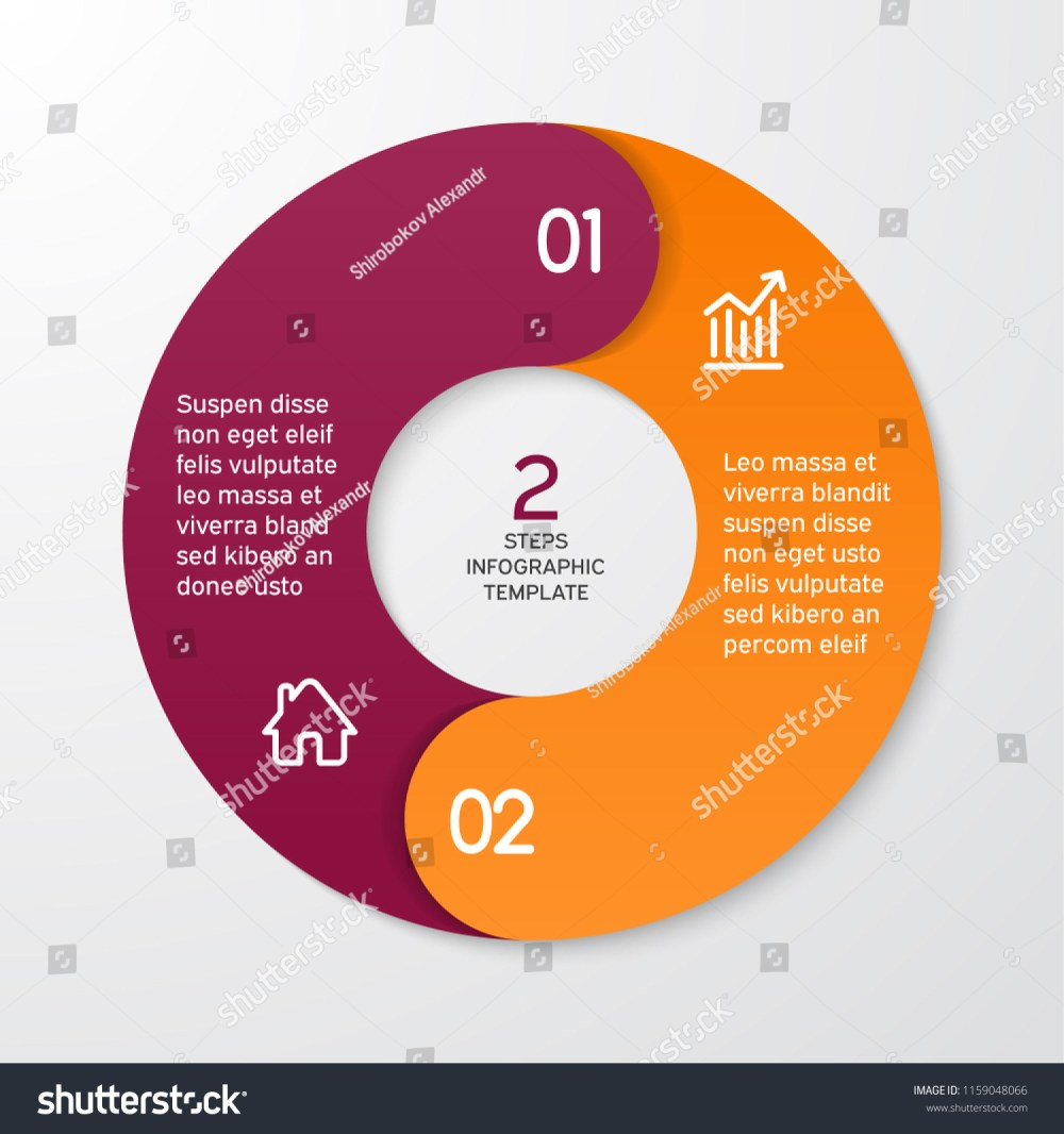 medium resolution of circle arrows for infographics template for cycle diagram options graph web design presentation and round chart business concept with 2 steps