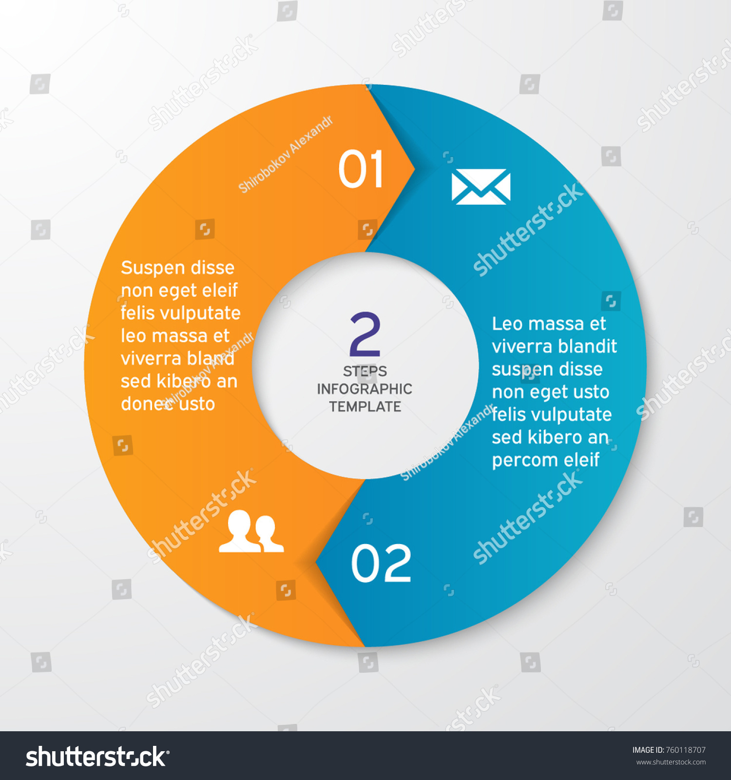 hight resolution of circle arrows for infographics template for cycle diagram options graph web design presentation and round chart business concept with 2 steps