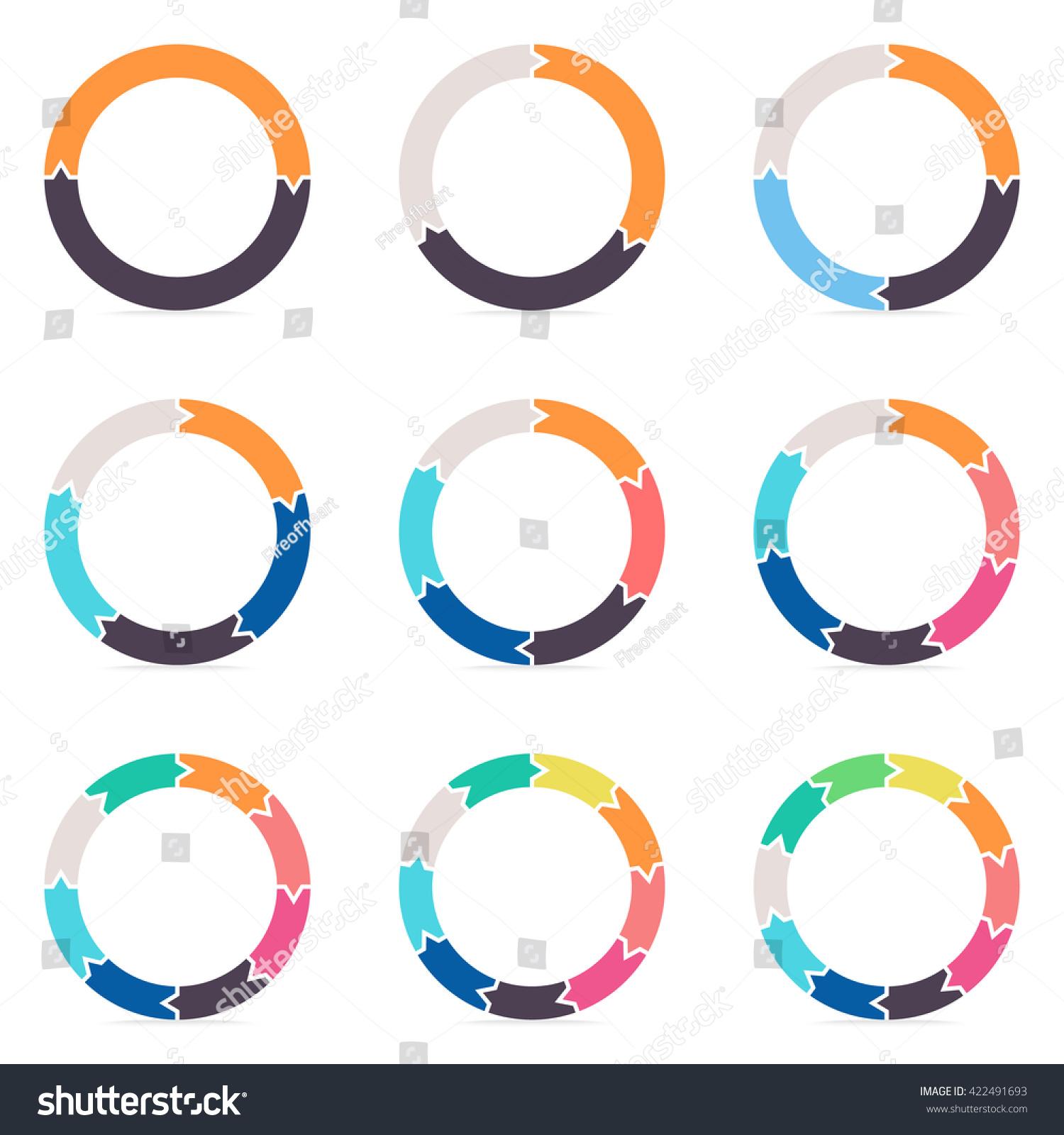 free circular arrow diagram template bottlenose dolphin arrows infographics charts diagrams 2 stock