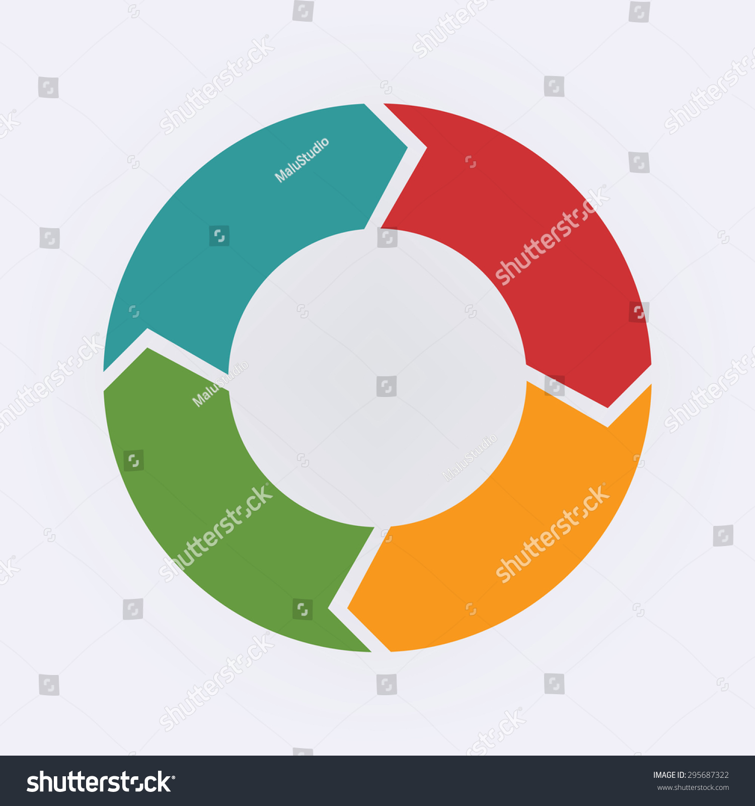 hight resolution of circular infographic template for cycling diagram graph presentation and round chart
