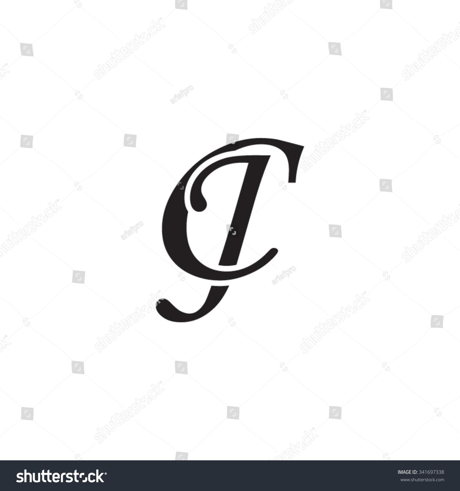 Cj Initial Monogram Logo Stock Vector 341697338 - Shutterstock
