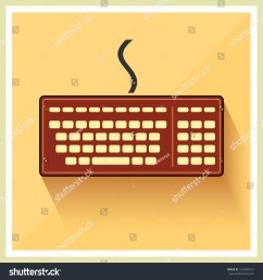 classic computer keyboard on retro background vector [ 1500 x 1600 Pixel ]