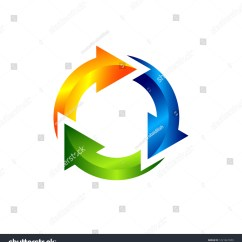 3 Arrow Circle Diagram 7 Pin Blade Trailer Plug Wiring Clip Art Chart Arrows Stock Vector Royalty Free Of With