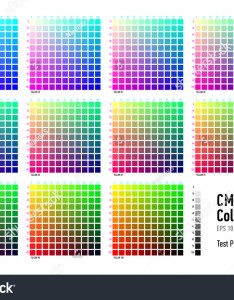 Cmyk press color chart also stock vector royalty free rh shutterstock