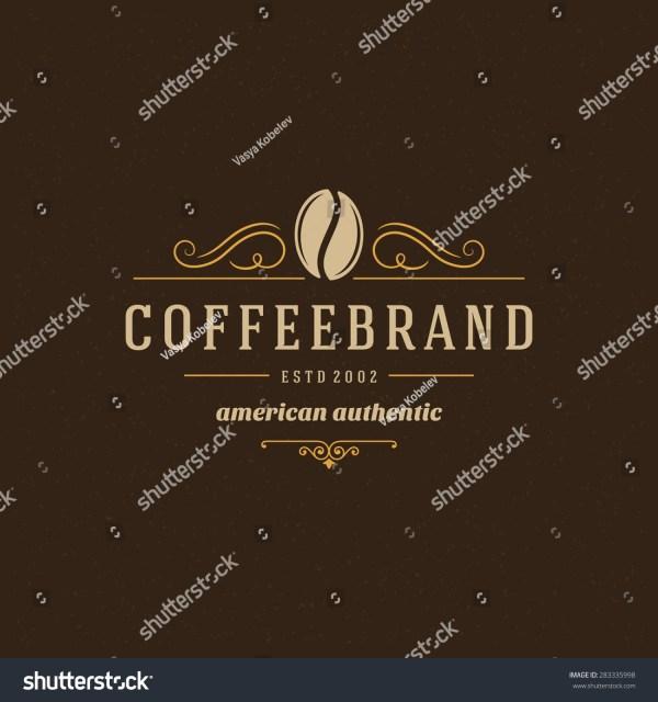 Coffee Logo Design Element Vintage Stock Vector