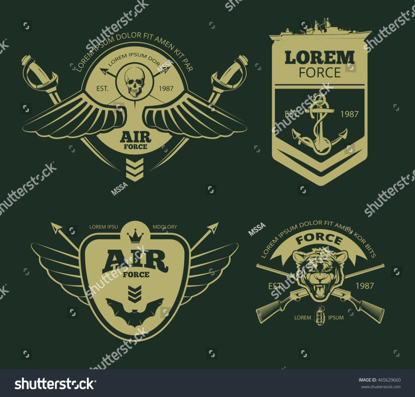 color military patches insignia army vector stock vector