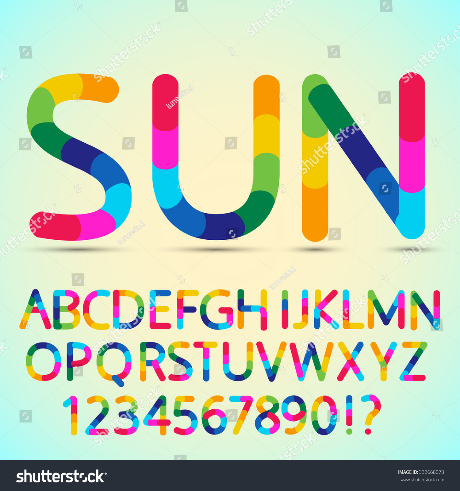 Colored Font