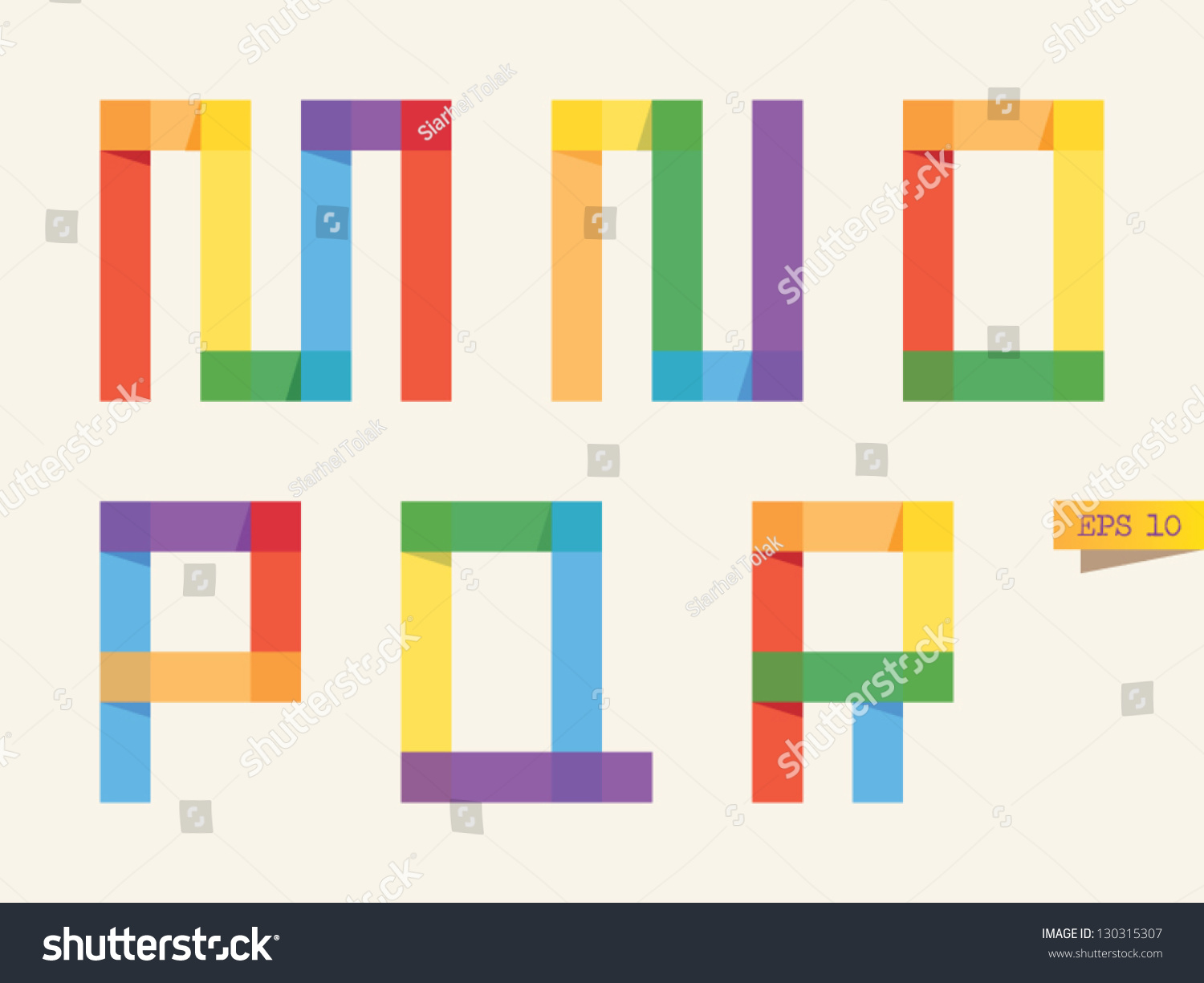 Colored Sticky Notes Alphabet With Rainbow Colors M N O