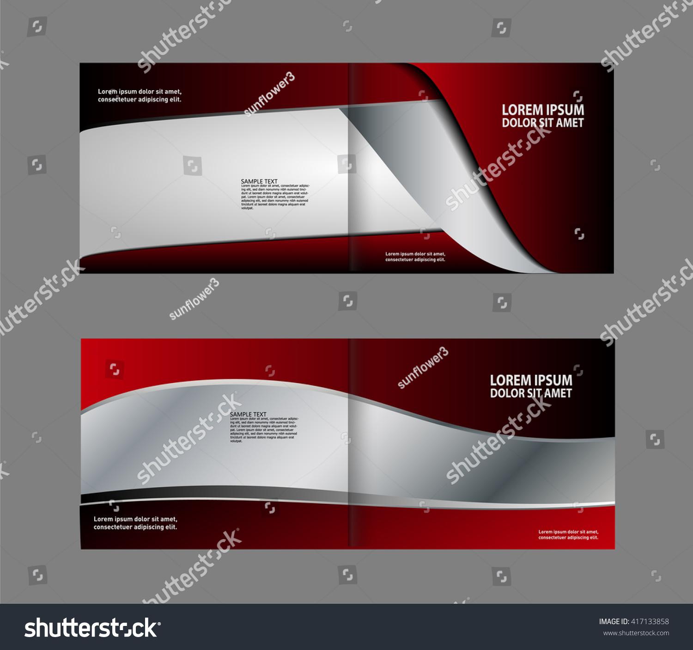 Colorful Bi-Fold Brochure Design. Corporate Leaflet, Cover Template