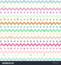 Colorful Chevron Pattern Eggs Easter Day Stock Vector ...