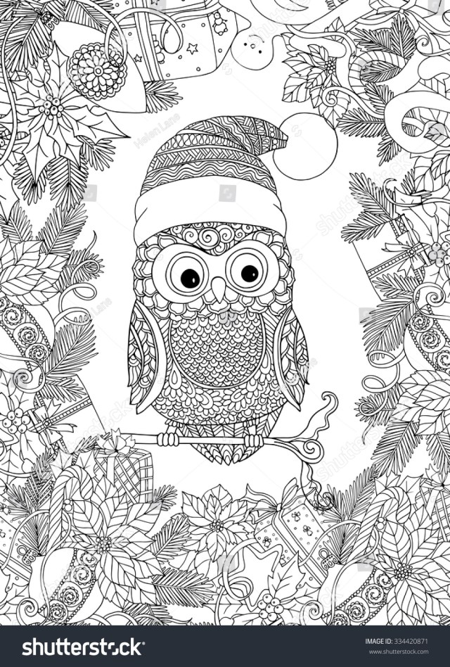 Coloring Book Adult Older Children Coloring Stock Vector (Royalty