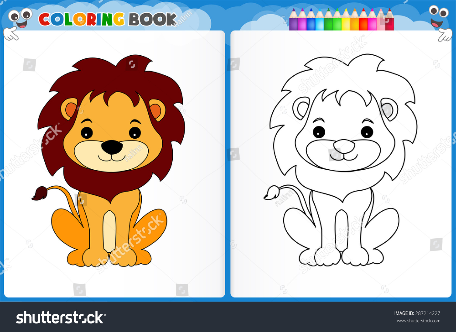 Cute Lion Coloring Pages For Kids