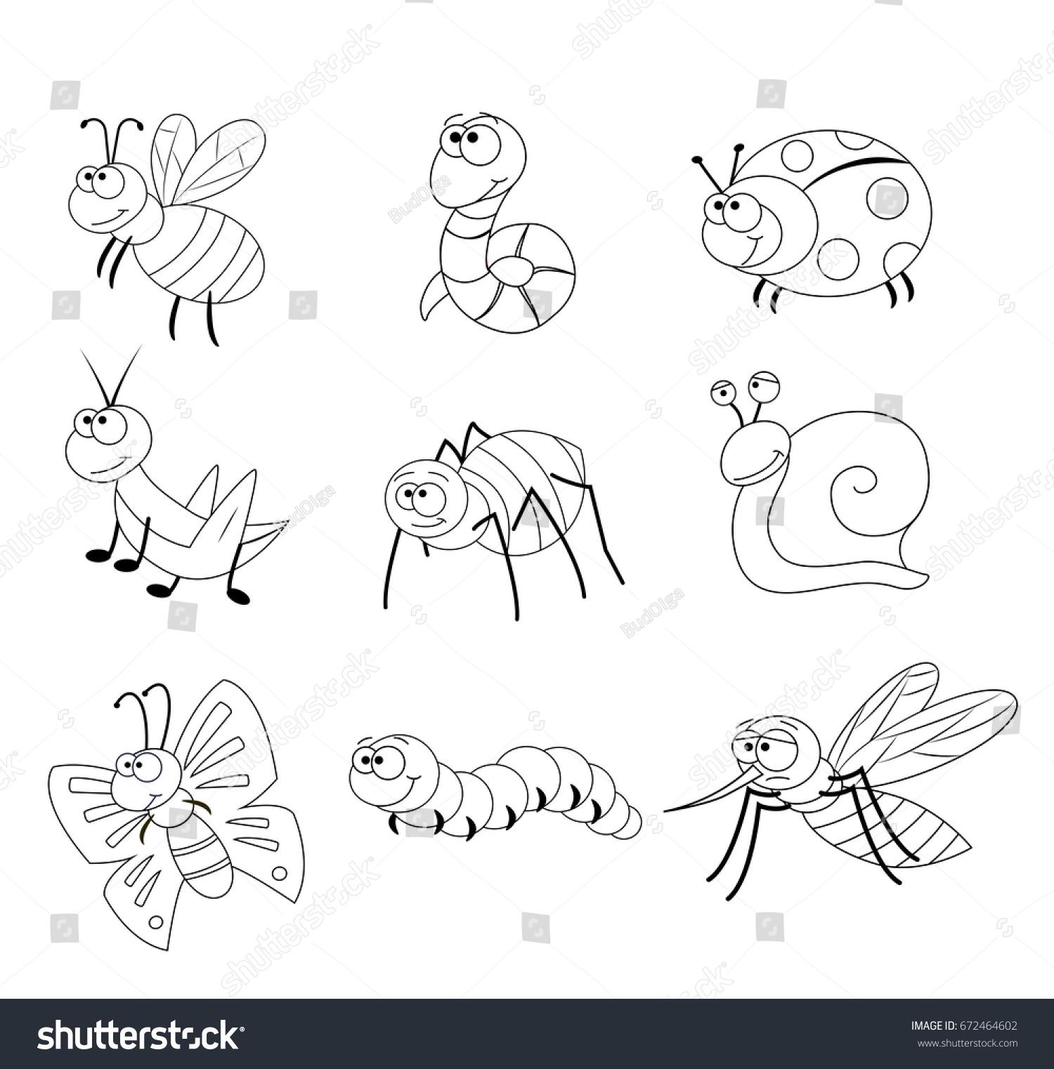 Preschool Bug Coloring Worksheet