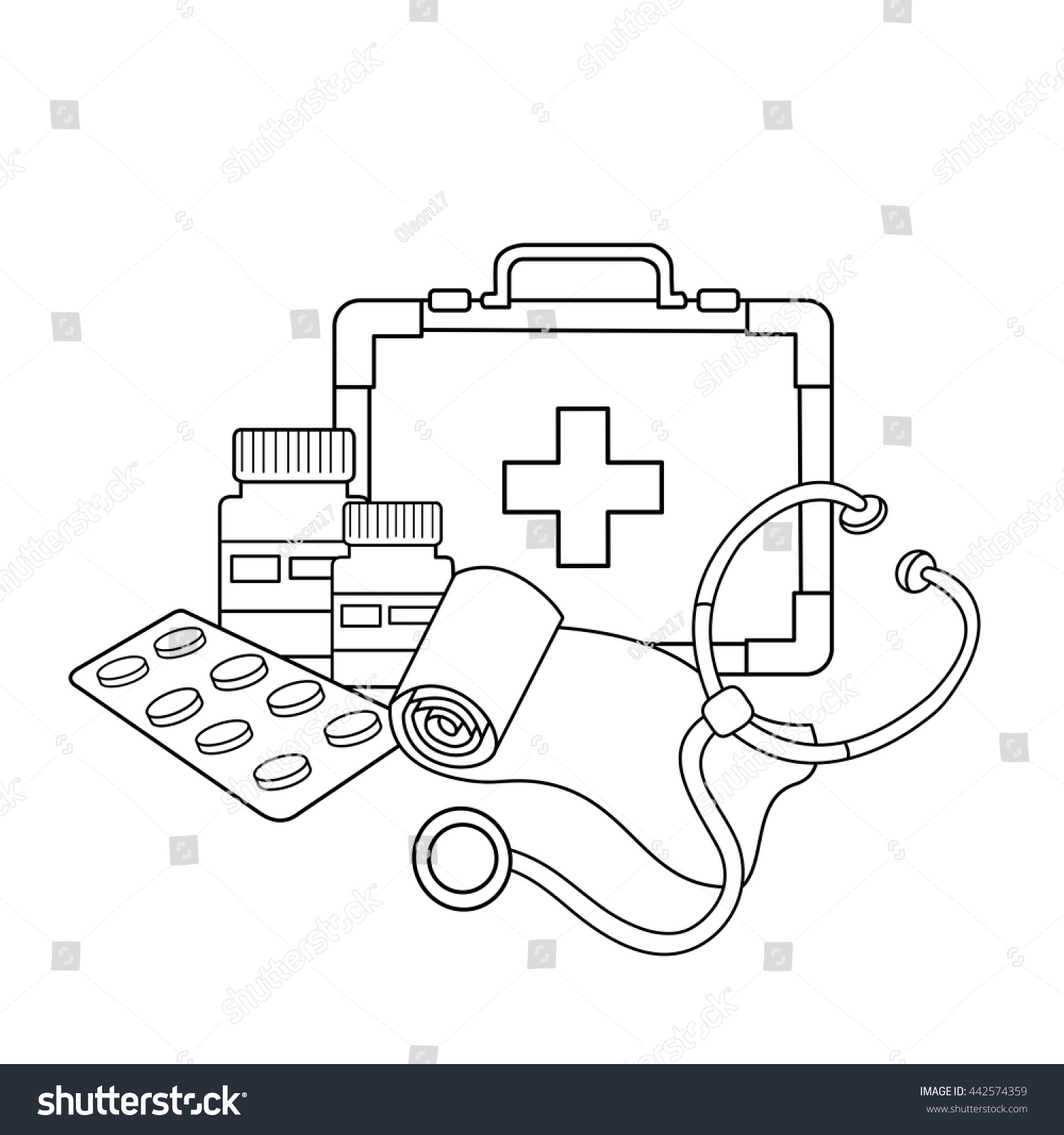 Medical Instruments Coloring Pages