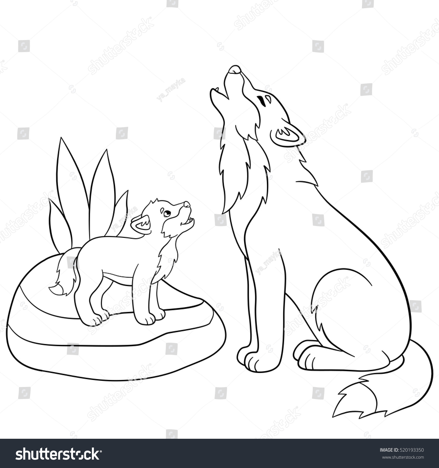 Coloring Pages Of Wolves Howling
