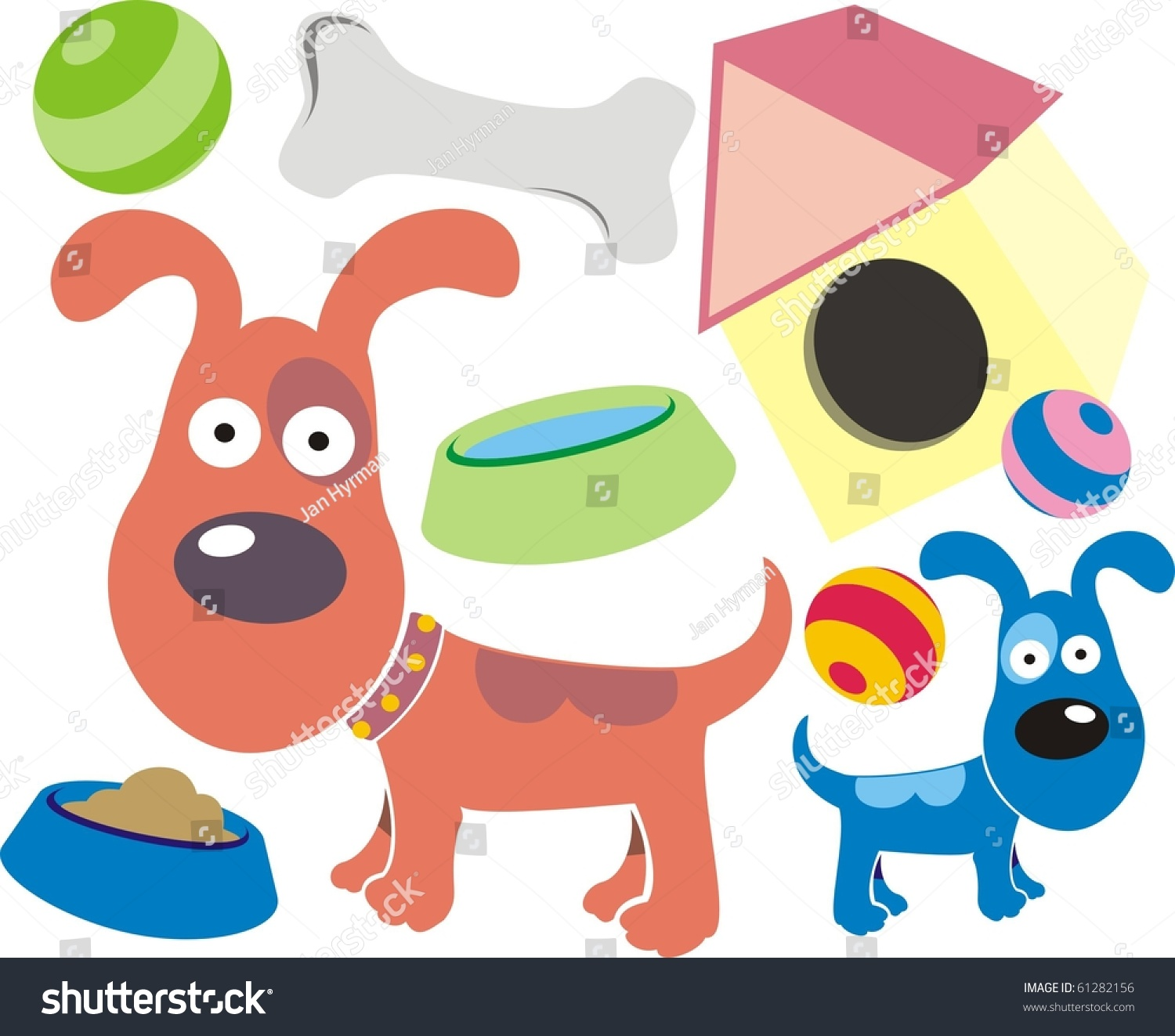 hight resolution of colourful pet dog clipart collection