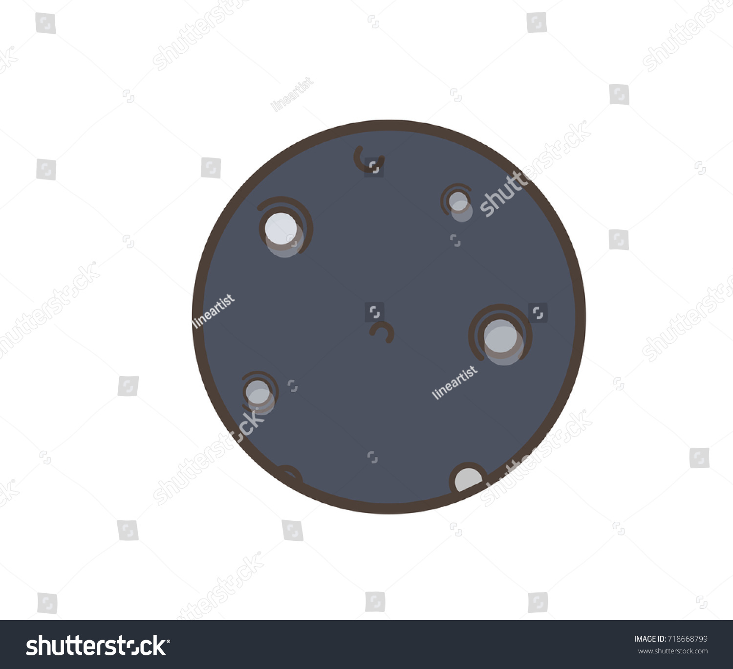 hight resolution of comic planet clipart with holes and spots vector illustration