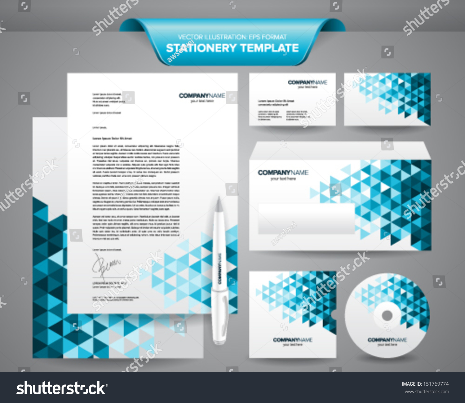 Complete Set Business Stationery Template Such Stock Vector 151769774  Shutterstock