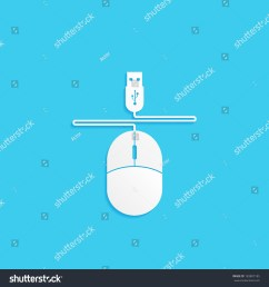 computer mouse with wire and usb connector vector icon [ 1500 x 1600 Pixel ]