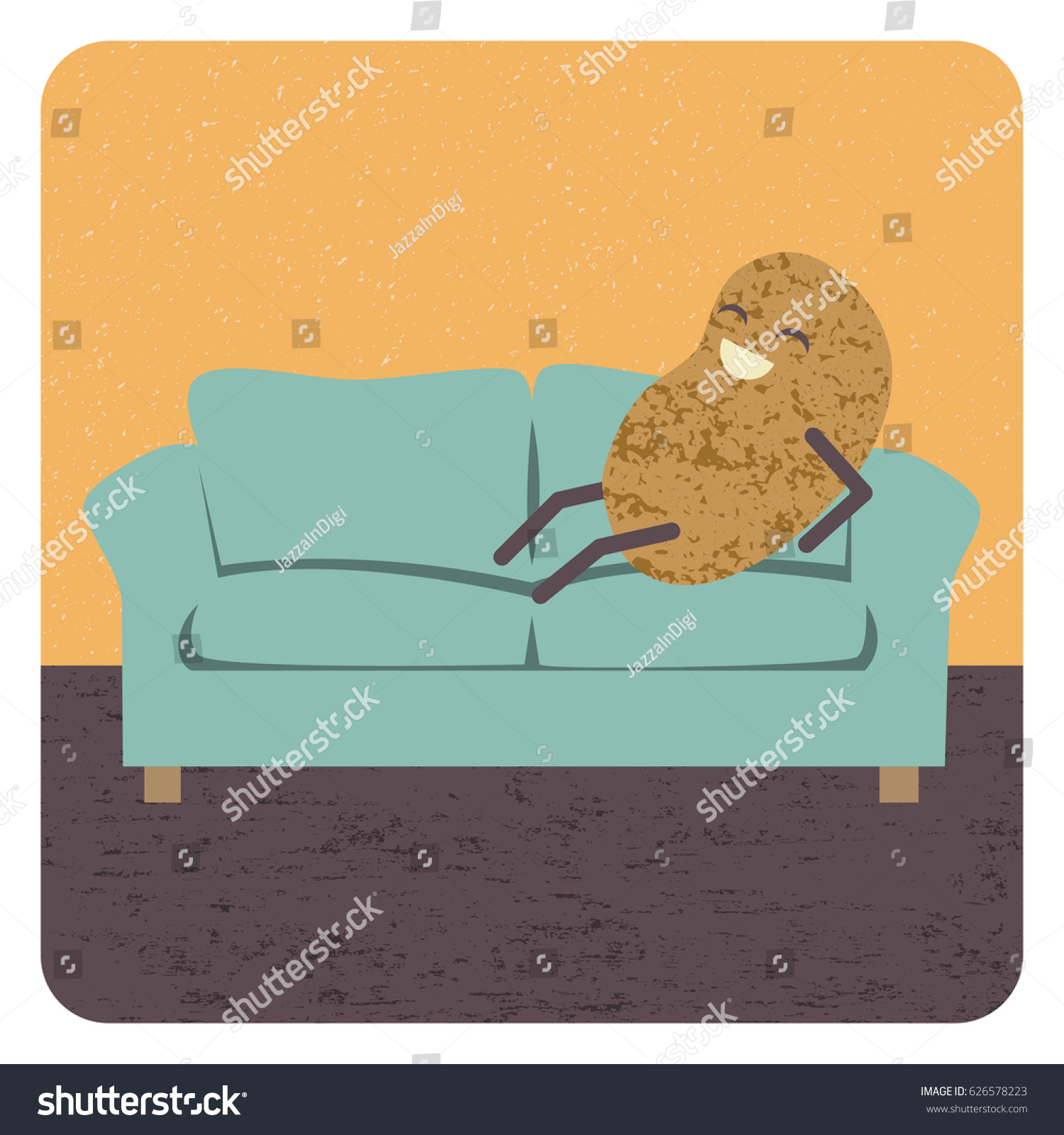 hight resolution of concept couch potato vector