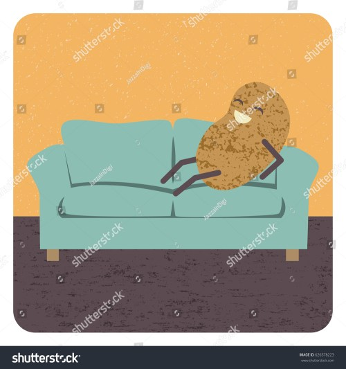 small resolution of concept couch potato vector