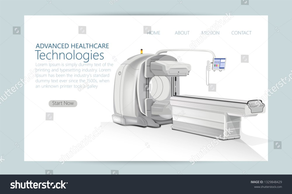 medium resolution of concept of hospital magnetic resonance imaging device isolated mri scanner vector illustration