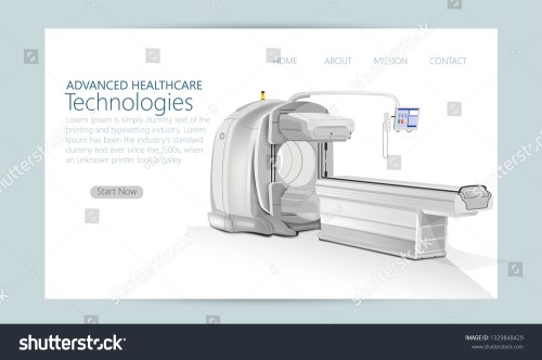 small resolution of concept of hospital magnetic resonance imaging device isolated mri scanner vector illustration