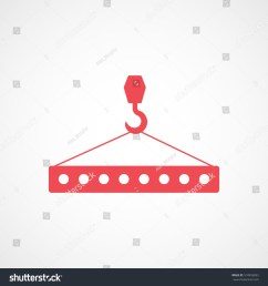 construction tool crane hook with block red flat icon on white background [ 1500 x 1600 Pixel ]