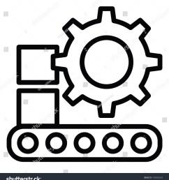 conveyor belt with cog machinery production [ 1425 x 1600 Pixel ]