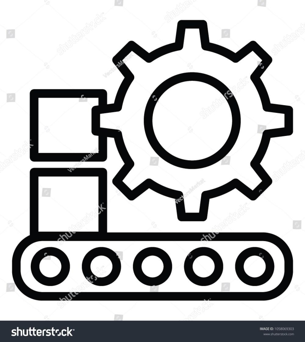 medium resolution of conveyor belt with cog machinery production