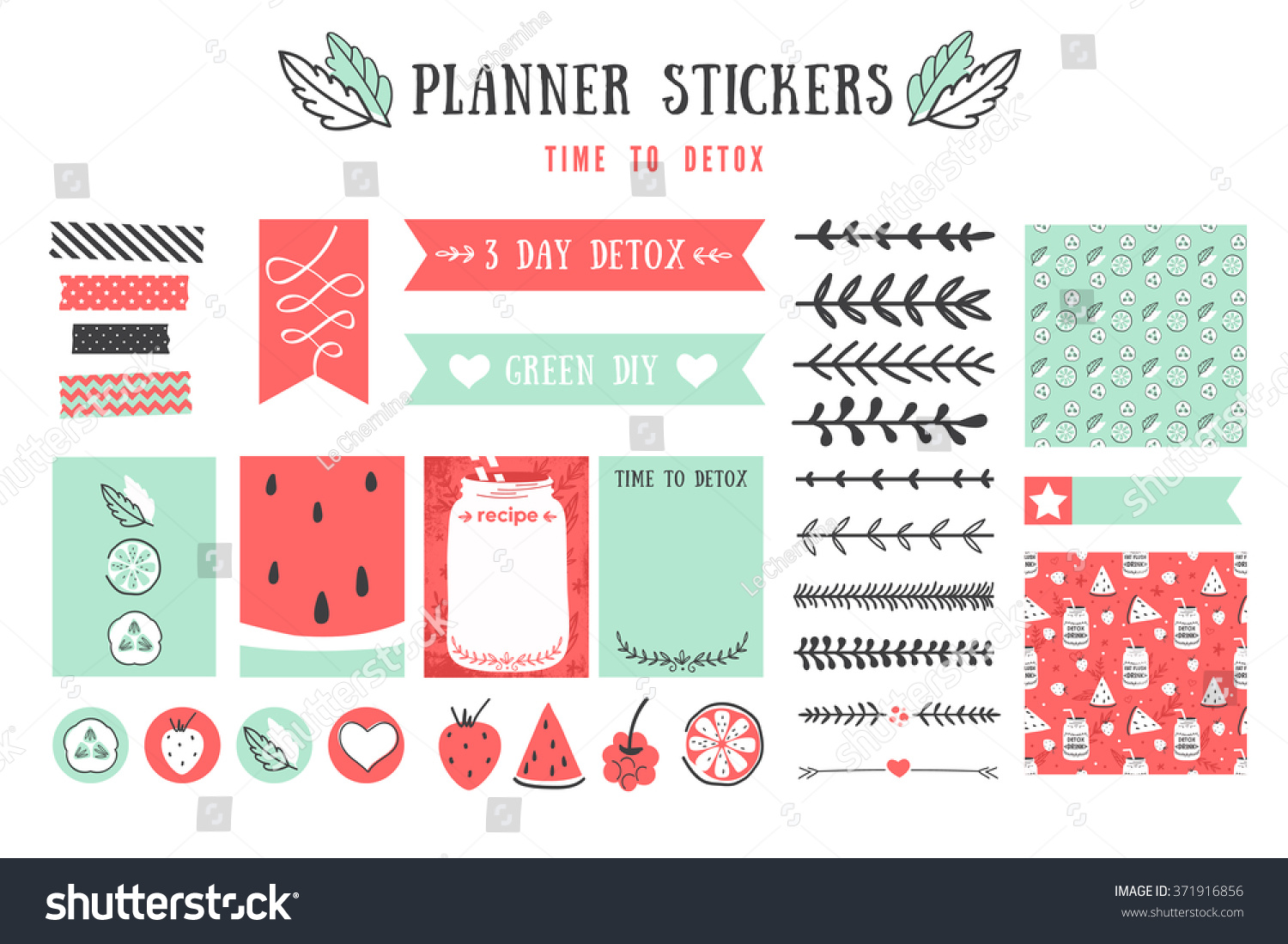Cooking Cards Notes Stickers Labels Tags Stock Vector