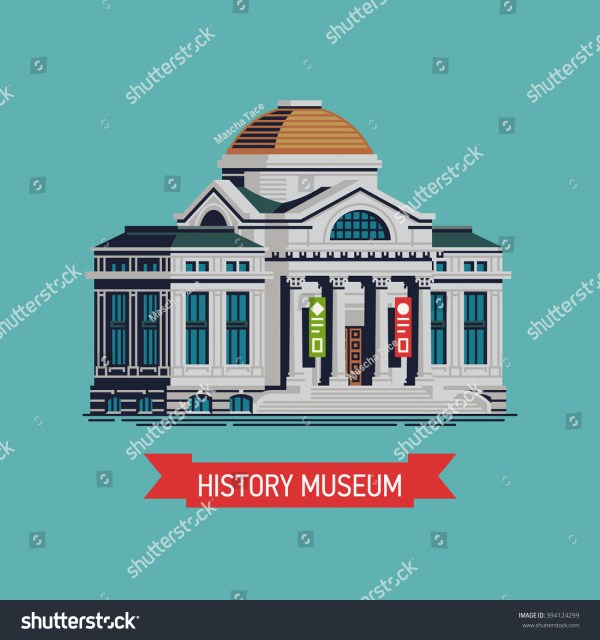 Cool Vector History Museum Building Icon Stock