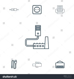 cord icon collection of 7 cord outline icons such as phone cable wire  [ 1500 x 1600 Pixel ]
