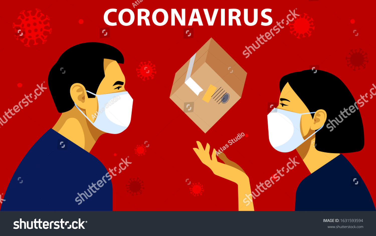 Corona Virus Face Mask Cartoon