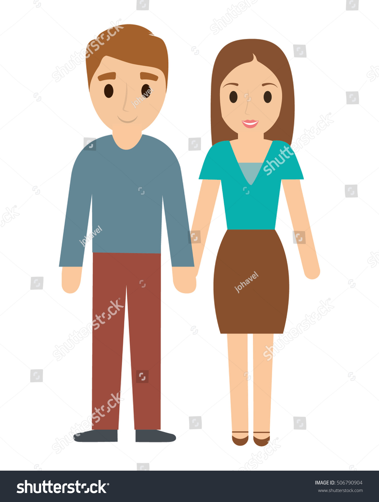 Mother And Father Cartoon : mother, father, cartoon, Couple, Father, Mother, Cartoon, Family, Stock, Vector, (Royalty, Free), 506790904