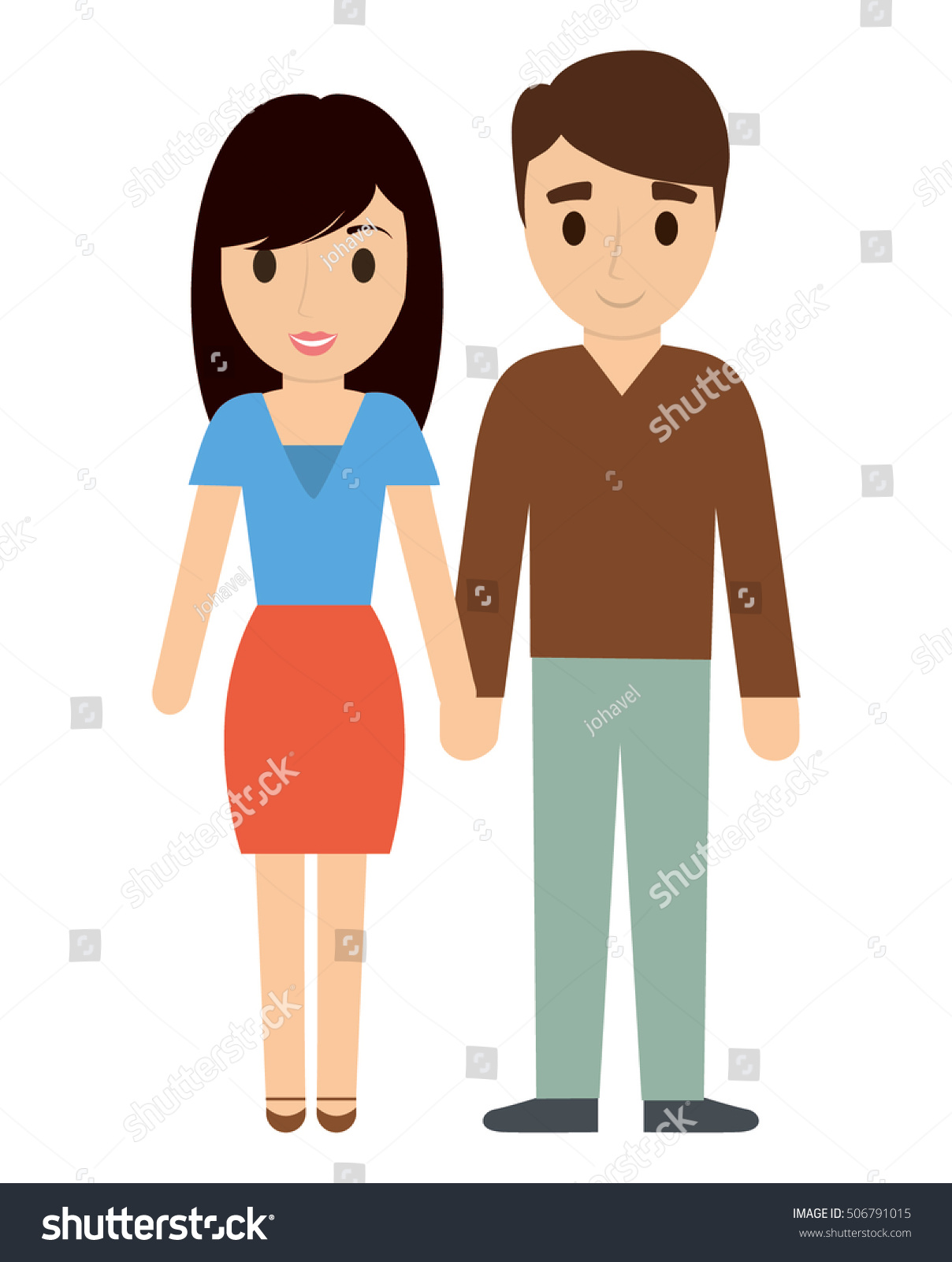Mother And Father Cartoon : mother, father, cartoon, Couple, Father, Mother, Cartoon, Family, Stock, Vector, (Royalty, Free), 506791015