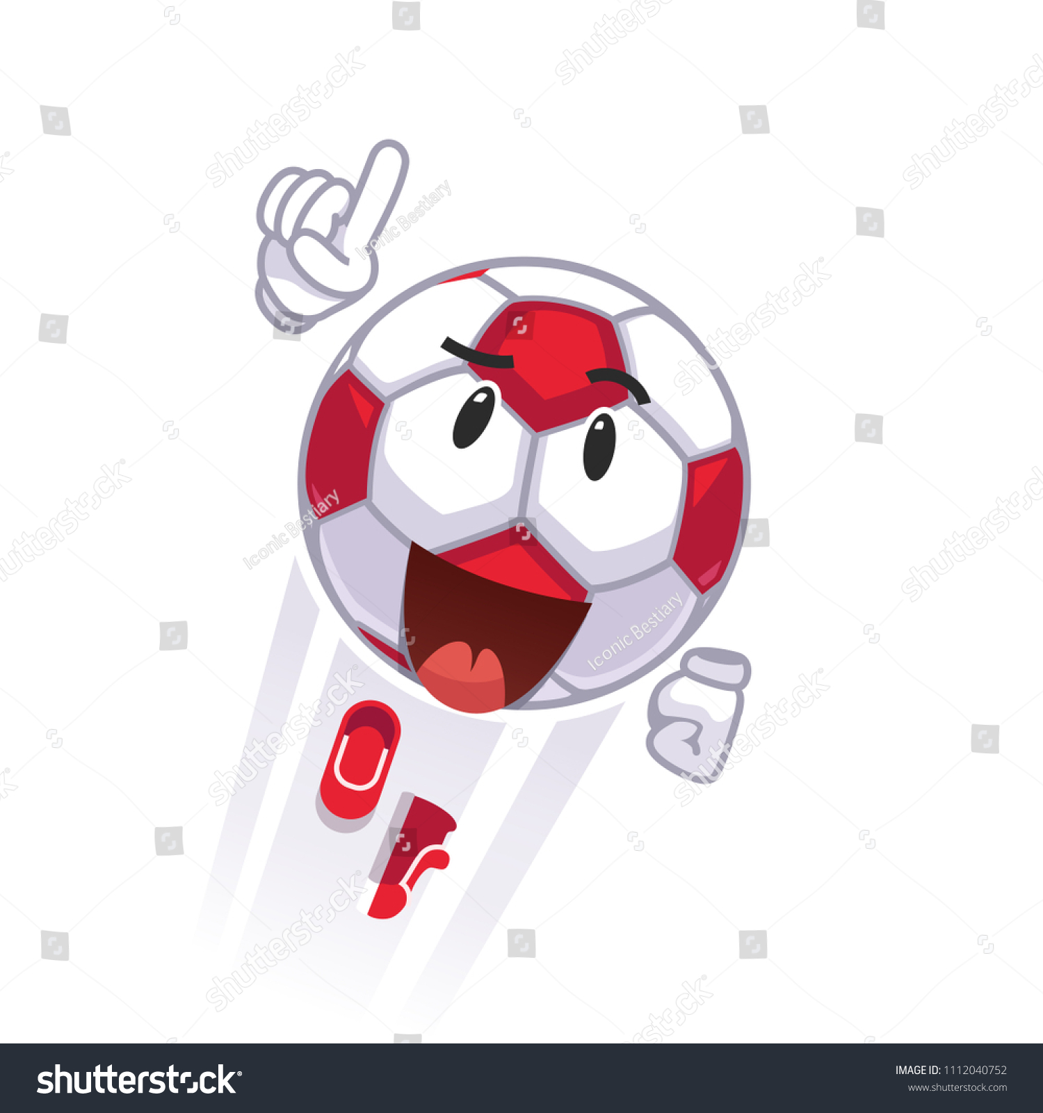 hight resolution of courageous animated soccer football character flying superhero metaphor cartoon soccer ball emoticon colorful clipart flat style vector illustration