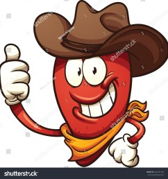 cowboy chili pepper vector clip art illustration with simple gradients all in a single layer  [ 1500 x 1566 Pixel ]