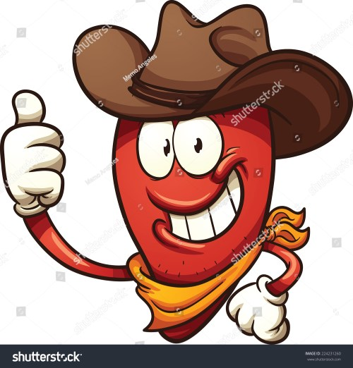 small resolution of cowboy chili pepper vector clip art illustration with simple gradients all in a single layer