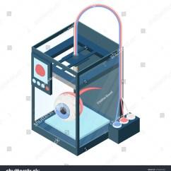 Diagram Of Artificial Eye Ftir Spectrometer Creating On Three Dimensional Stock Vector Royalty Printer Illustration