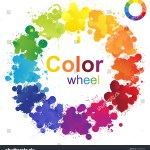 Creative Color Wheel Made Paint Splashes Stock Vector Royalty Free 163560782
