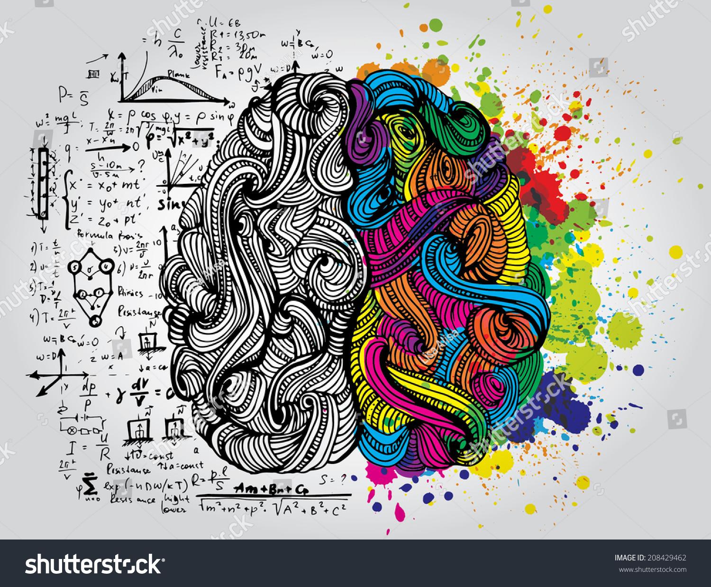 Creative Concept Human Brain Vector Illustration Stock