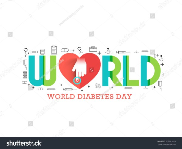 Creative Illustration Poster Banner Of World Diabetes
