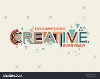Creative Modern Typography Design Geometrical Style Stock ...