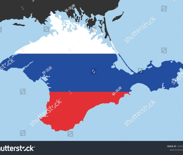 Crimea As Part Of Russia Peninsula As Russian Territory And Country After Annexation And Expansive