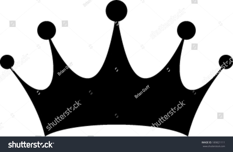 Keep Calm Crown Black And White