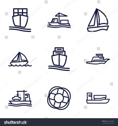 cruise icons set set of 9 cruise outline icons such as cargo ship ship [ 1500 x 1600 Pixel ]