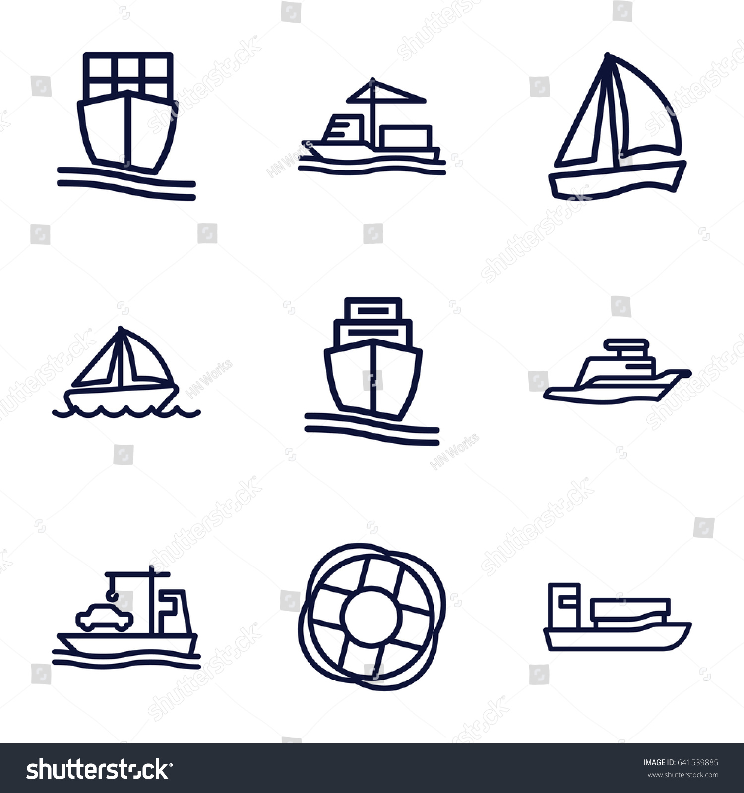 hight resolution of cruise icons set set of 9 cruise outline icons such as cargo ship ship
