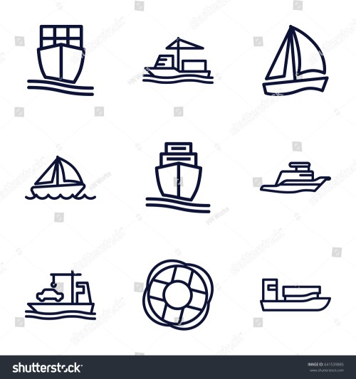 small resolution of cruise icons set set of 9 cruise outline icons such as cargo ship ship
